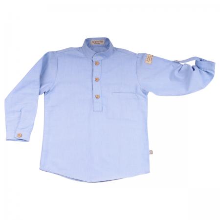 -M0002 Camisa nerú azul