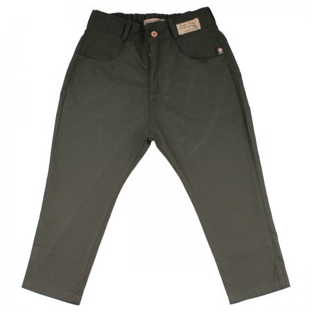M0017 V Pantalon Harem drill verde Niño