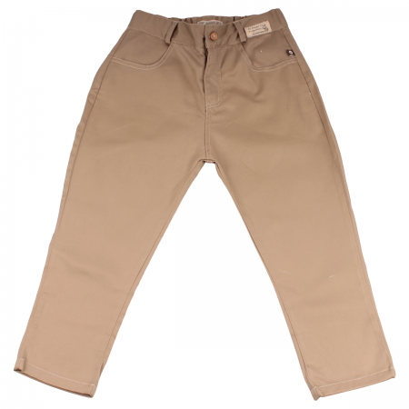 M0017C Pantalon Harem drill Caqui Niño